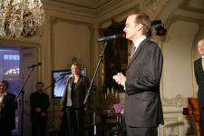 Tlumočení na launch party magazínu Marie-Claire s francouzským velvyslancem Jeho excelencí panem Charlesem Friesem